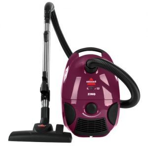 Maroon, Corded Bissell Zing Bagged Canister Vacuum,